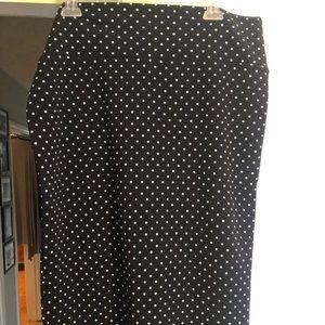 Black with white polka dot LuLaRoe Cassie Skirt